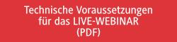 Technische Voraussetzungen für das LIVE-WEBINAR